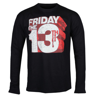 Moška majica z dolgimi rokavi Friday The 13th - Block Logo - Črna - HYBRIS, HYBRIS, Friday the 13th