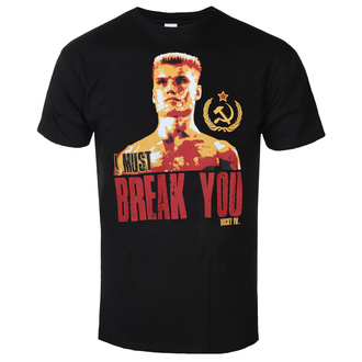 Moška majica Rocky - I Must Break You - Črna - HYBRIS, HYBRIS, Rocky