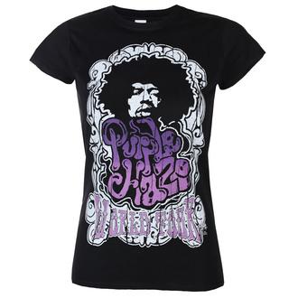 Ženska majica Jimi Hendrix - Purple Haze World Tour - Črna - HYBRIS, HYBRIS, Jimi Hendrix