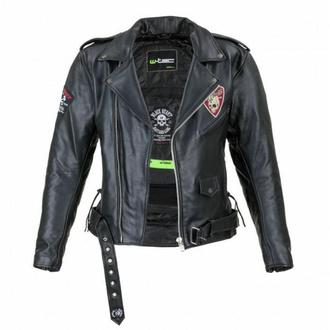 moška jakna (double rider) BLACK HEART - PERFECT - ČRNA - 029-0015-BLK - POŠKODOVANO - BH079