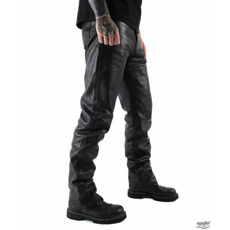usnjene moške hlače OSX - Martin - Črna - 301 - POŠKODOVANO, OSX