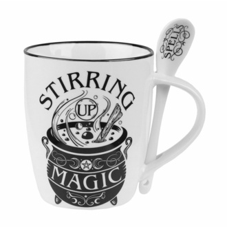 Šalica z žlico ALCHEMY GOTHIC - Stirring Up Magic, ALCHEMY GOTHIC
