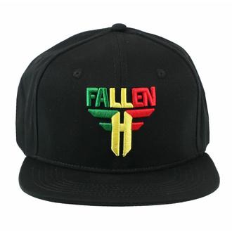 Kapa FALLEN - Insignia Flat - Črna-Rasta, FALLEN