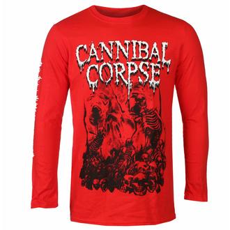 Moška majica z dolgimi rokavi CANNIBAL CORPSE - PILE OF SKULLS - RDEČA - PLASTIC HEAD, PLASTIC HEAD, Cannibal Corpse