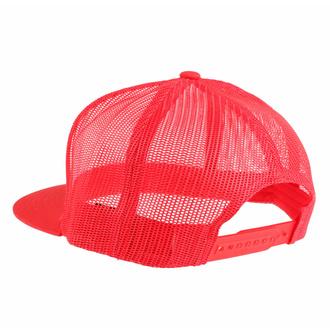 Kapa s šiltom BLACK HEART - RED SKULL- RDEČA, BLACK HEART