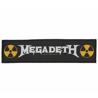 Našitek MEGADETH - LOGO - RAZAMATAZ, RAZAMATAZ, Megadeth