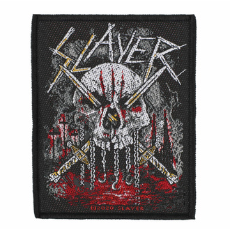 Našitek SLAYER - SKULL & SWORDS - RAZAMATAZ, RAZAMATAZ, Slayer