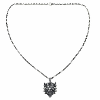 Ogrlica z obeskom VIKING WOLF NORDIC MYTHOLOGY PENDANT, Leather & Steel Fashion