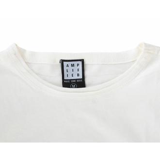 moška majica RAMONES - VINTAGE SHIELD - VINTAGE WHITE - AMPLIFIED, AMPLIFIED, Ramones