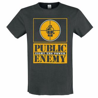 moška majica PUBLIC ENEMY - ŽLATA FIGHT THE POWER - OGLJIK - AMPLIFIED, AMPLIFIED, Public Enemy