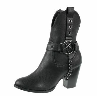 Ženski čevlji KILLSTAR - Coven Cowboy - Črna, KILLSTAR