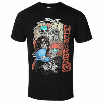 Moška majica Guns N' Roses - Stacked Skulls - Črna - ROCK OFF, ROCK OFF, Guns N' Roses
