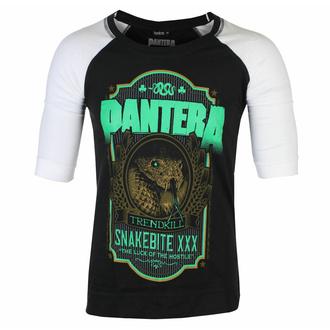 Unisex majica s 3/4 rokavi Pantera - Snakebite - XXX Label - Črna / Bela Raglan - ROCK OFF, ROCK OFF, Pantera