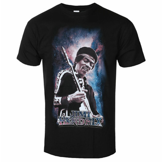 Moška majica Jimi Hendrix - Galaxy - Črna - ROCK OFF, ROCK OFF, Jimi Hendrix