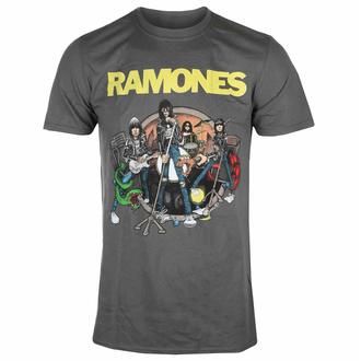 Moška majica Ramones - Road To Ruin - Charcoal - ROCK OFF, ROCK OFF, Ramones