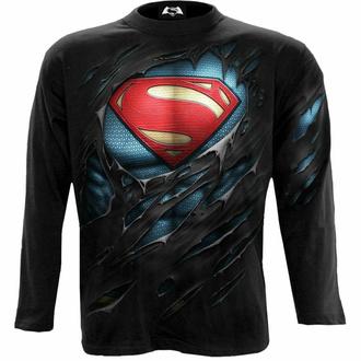 Moška majica z dolgimi rokavi SPIRAL - Superman - RIPPED - Črna, SPIRAL, Superman