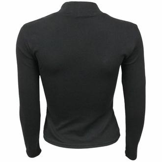 Ženska majica z dolgimi rokavi SPIRAL - CROW QUEEN - Črna, SPIRAL