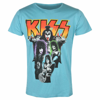Moška majica Kiss - Neon Band - MODRA - ROCK OFF, ROCK OFF, Kiss