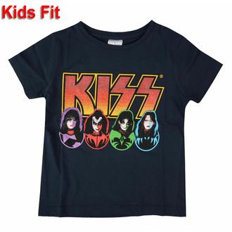 Otroška majica KISS - Logo Faces & Icons - NAVY - ROCK OFF, ROCK OFF, Kiss