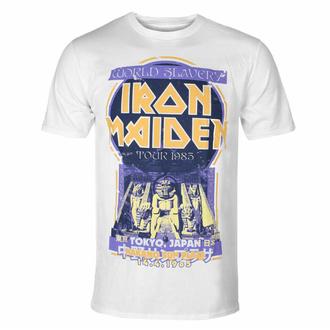 Moška majica Iron Maiden - Powerslave Japan Flyer WHT - ROCK OFF, ROCK OFF, Iron Maiden