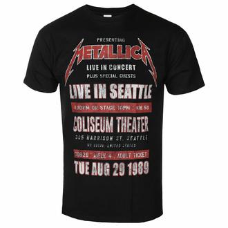 Moška majica Metallica - Seattle '89 BL ECO - ROCK OFF, ROCK OFF, Metallica