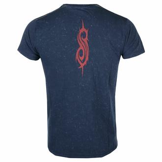 Moška majica Slipknot - Logo Snow Wash NAVY - ROCK OFF, ROCK OFF, Slipknot