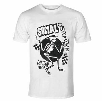 Moška majica Social Distortion - Speakeasy Checkerboard WHT - ROCK OFF, ROCK OFF, Social Distortion