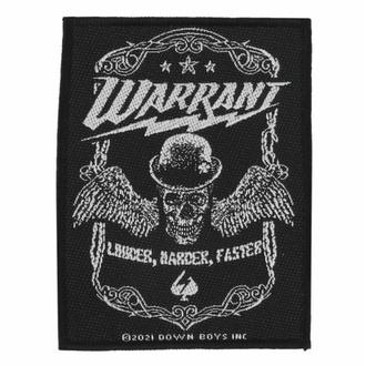 Našitek Warrant - Louder Harder Faster - ROCK OFF, ROCK OFF, Warrant