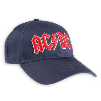 Kapa AC / DC - Rdeč Logo - Navy - ROCK OFF, ROCK OFF, AC-DC