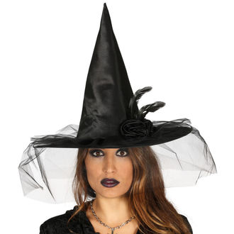 Noč čarovnic Čarovnica Hat BLACK WITCH FLOWER