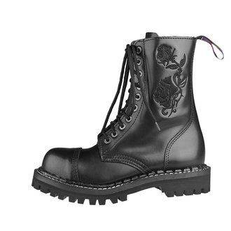 Škornji STEADY´S - 10 vezalnih lukenj - Črno roza, STEADY´S