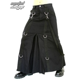 Kilt Aderlass -  Chain Skirt Denim Črno, ADERLASS