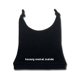 Otroški klobuk heavy metal inside v beli - črna - Metal-Kids, Metal-Kids