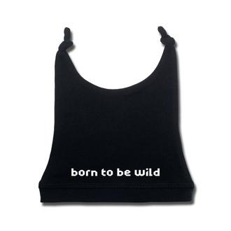 Otroški klobuk born to be wild v beli - črna - Metal-Kids, Metal-Kids