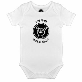 Otroški pajac My first metal shirt - bela - črna - Metal-Kids, Metal-Kids