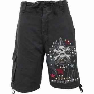 Moške kratke hlače SPIRAL - GOTH METAL - Črna, SPIRAL
