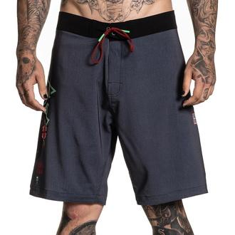 Moške kratke hlače (kopalke) SULLEN - RIGIONI SKULL - SIVA / ZELENOMODRA, SULLEN
