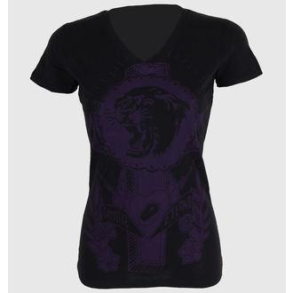 majica ulica ženske - Tiger Cross One color V-neck - SOMETHING SACRED - V-vrat, SOMETHING SACRED