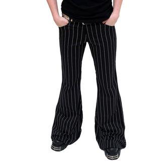 hlače ženske Mode Wichtig - Flares Pin Stripe Black-White, MODE WICHTIG