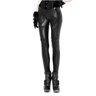 Ženske hlače (legice) PUNK RAVE - Black Soiree Gothic, PUNK RAVE