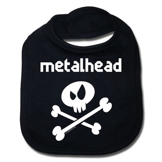 Slinček metalhead v beli - črna - Metal-Kids, Metal-Kids