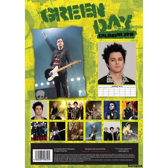 Koledar do leto 2018 GREEN DAY, NNM, Green Day