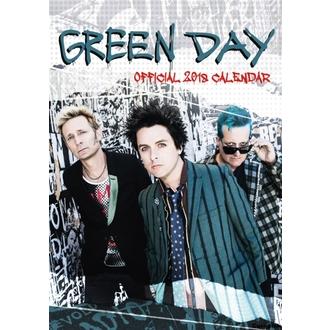Stenski koledar za leto 2018 GREEN DAY, NNM, Green Day