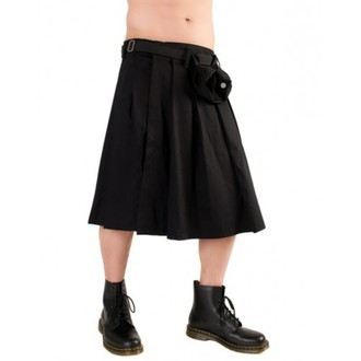 kilt Black Pistol - Short Kilt Denim Black, BLACK PISTOL