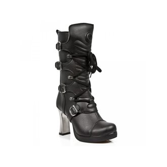 Ženski Škornji z visoko peto - VEGAN NEGRO ** VEGAN **, PLATAFORMA - NEW ROCK, NEW ROCK