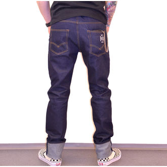 Moške Hlaei BLACK HEART - HOT ROD JEANS, BLACK HEART