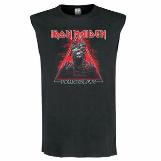 Unisex zgornji del majice IRON MAIDEN - RDEČA POWERSLAVE - OGLJIK - AMPLIFIED, AMPLIFIED, Iron Maiden