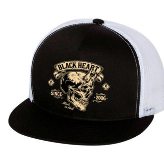 Kapa BLACK HEART - DEVIL SKULL - Bela, BLACK HEART