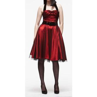 obleko ženske HELL BUNNY 'Songstree Obleka (RDEČA / ČRNA), HELL BUNNY