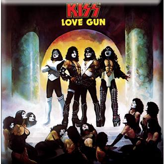 magnet Kiss - Ljubezen Pištola Album Cover hladilnik Magnet - ROCK OFF, ROCK OFF, Kiss